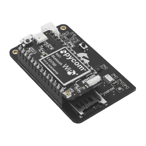 Pysense IoT Sensor Shield WiPy WiFi development board Side