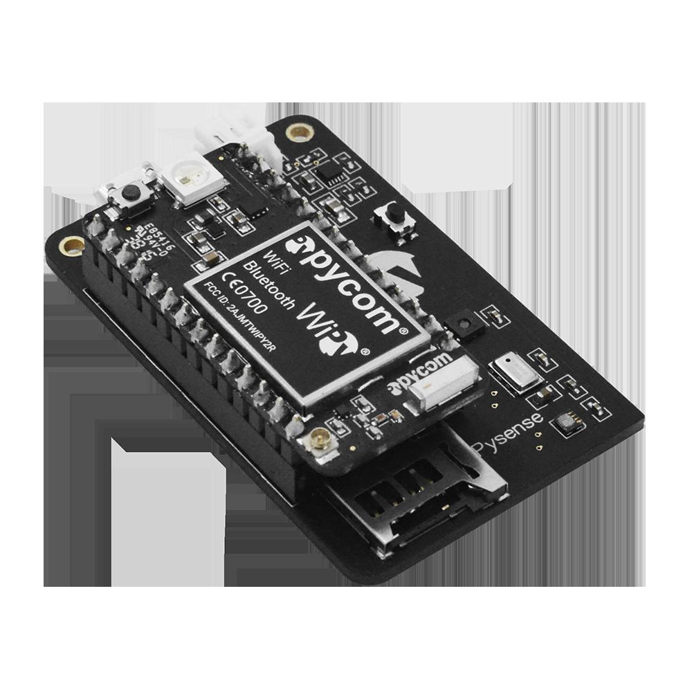 Pysense IoT Sensor Shield WiPy WiFi development board Side