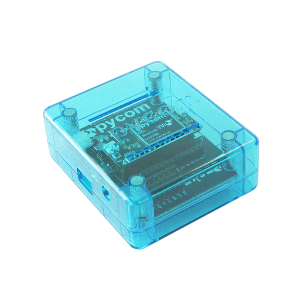 Blue hardware cases for development boards