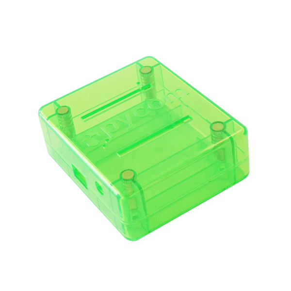 Pycase green iot hardware accessories, cases for development boards