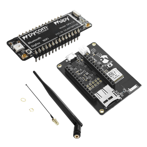 micropython programmable featuring Wi-Fi, Sigfox and LTE-M, IoT