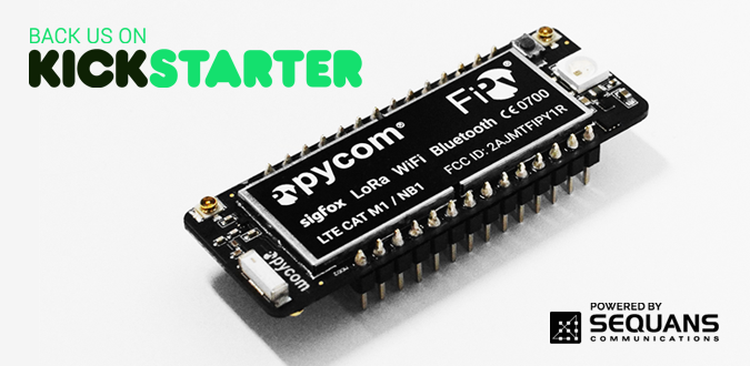 Pycom Incorporating Sequans LTE-M Technology in New  5-Network IoT Development Board