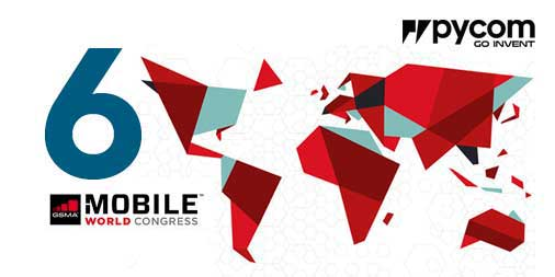 Pycom featured on 6 stands at Mobile World Congress 2017