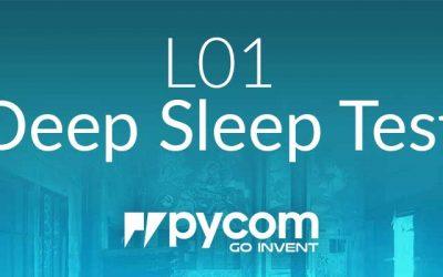 L01 OEM Module Deep Sleep Test