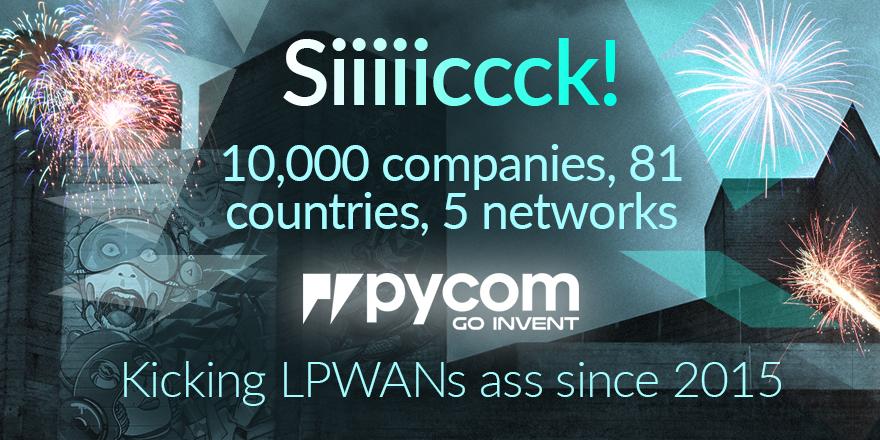 10,000 Companies use Pycom Products