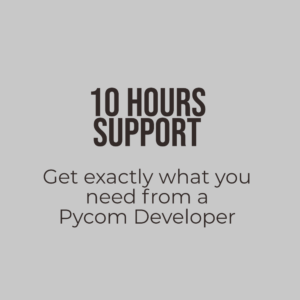 support from an internet of things developer