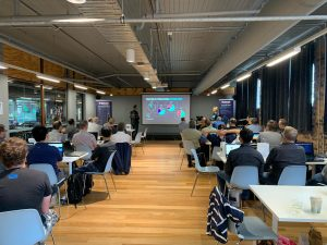 Goinvent brisbane crowd learning about IoT software