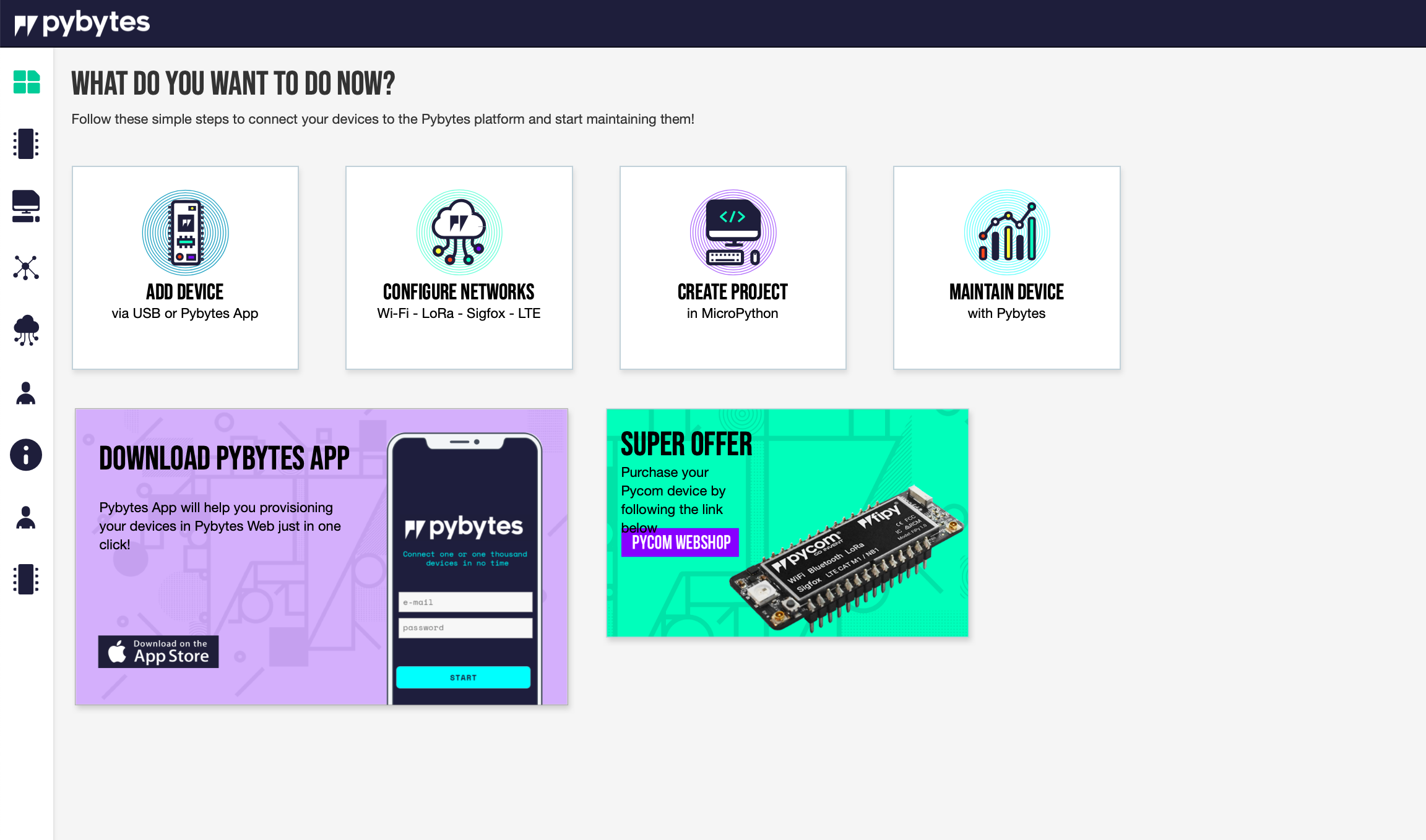 pybytes cloud software iot