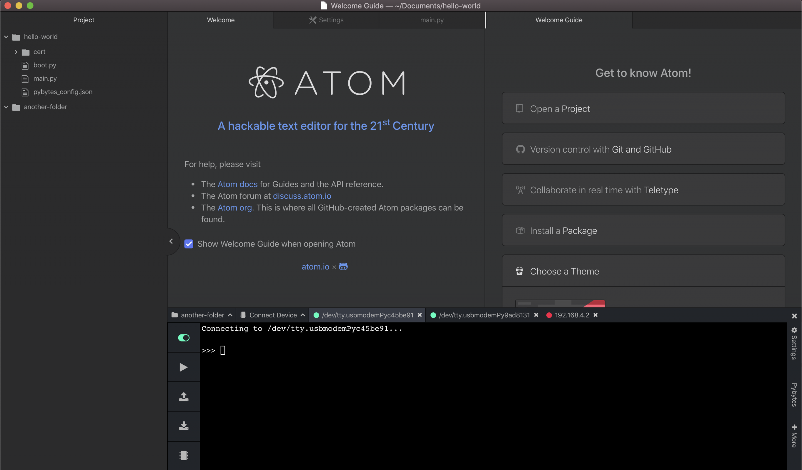 atom and VSCode plug in