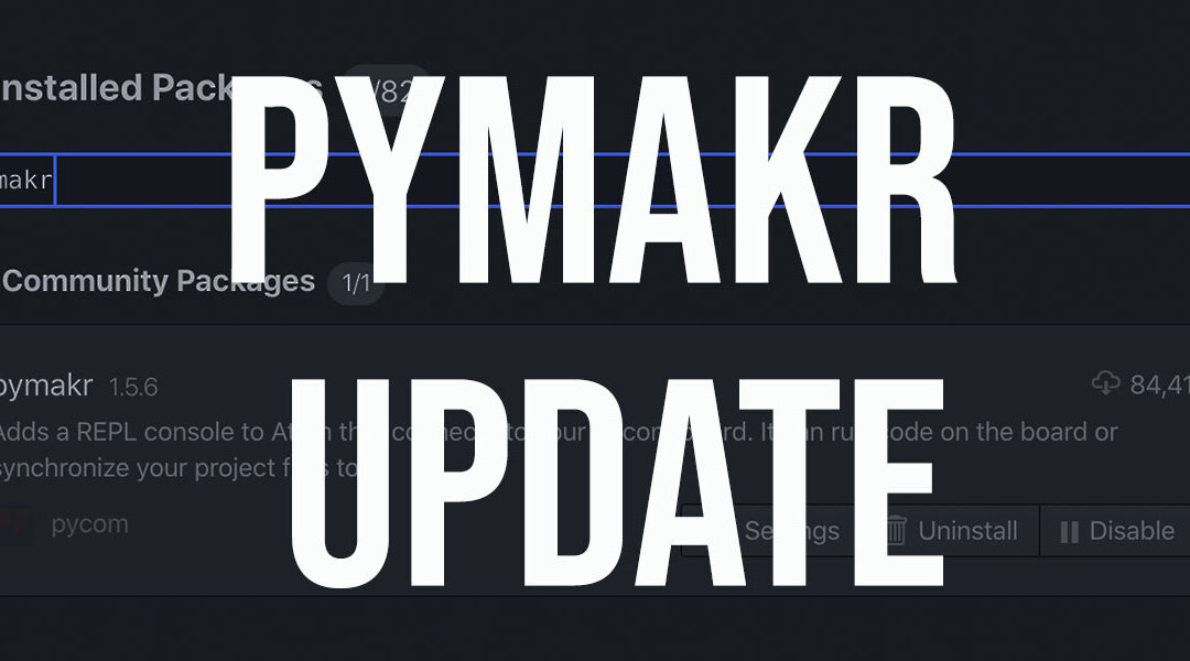 Pymakr's hit refresh!