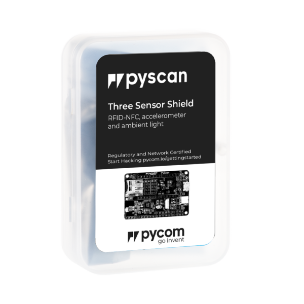 Pyscan three sensor shield RFID NFC accelerometer and ambient light