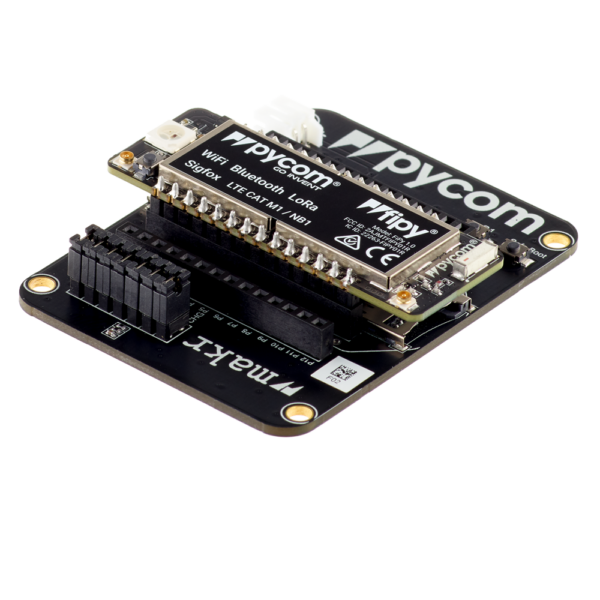 Expansion board with Lopy - micropython programmable offering WiFi, BLE and LoRa gateway