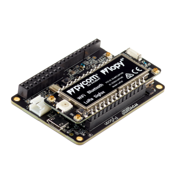 Pytrack lopy - micropython programmable featuring Wi-Fi, LoRa, Sigfox and LTE-M
