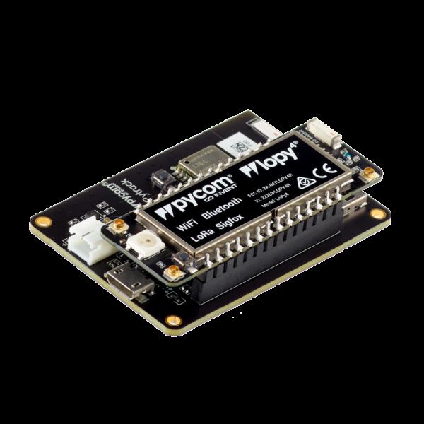 Pytrack LoPy4 - micropython programmable board and IoT platform