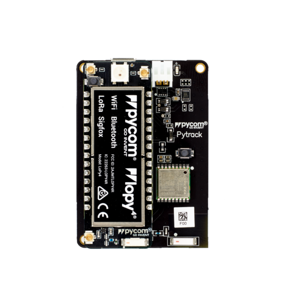 Pytrack -Lopy micropython programmable featuring Wi-Fi, LoRa, Sigfox and LTE-M