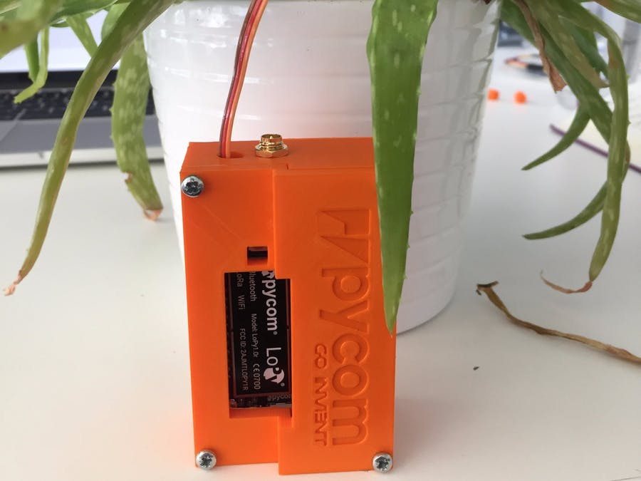 Plant sensor using connected devices through internet of things