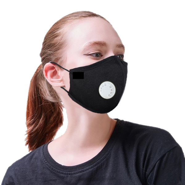Black Mask PPE face protection for personal use, smart antibacterial fabric