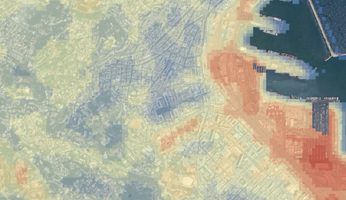 urban heat map city