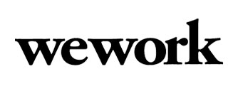 Wework Logo, an American commercial real estate and shared workspaces for technology startups